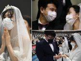 """شاهد .. ماذا فعل شبح """"كورونا"""" في أكثر من 6 آلاف عريس وعروسة بحفل زفاف جماعي"""