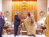 شاهد .. ولي العهد يلتقي وزير الخارجية الأمريكي – فيديو وصور
