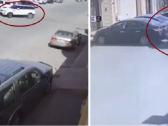 """شاهد .. سائق  سيارة  """"رينج """" يصدم  عدد من  السيارات المتوقفة بحي إشبيليا بالرياض أثناء مطاردة مثيرة !"""