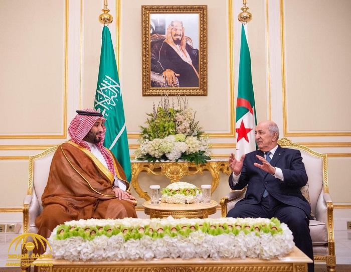 بالصور : ولي العهد يجتمع مع الرئيس الجزائري ..  ويستعرضان فرص التعاون المشترك