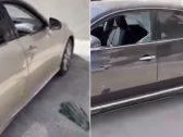 شاهد : شخص يهشم زجاج سيارات بالرياض ويسرق محتوياتها .. والكشف عن هويته بعد القبض عليه