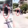 """بالفيديو : شاب يرعب معممين إيرانيين في شوارع """"قم""""  بأنه مصاب بكورونا .. شاهد ردة فعلهم!"""