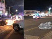 """شاهد : سائق """"غير متزن"""" يصطدم بالمركبات في الجوف متعمداً .. وفيديو يوثق لحظة إيقافه بالقوة الجبرية!"""