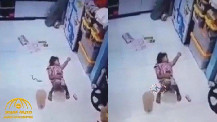 ثعبان يتسلل داخل ملابس طفلة نائمة .. شاهد رد فعلها وتصرف أسرتها !