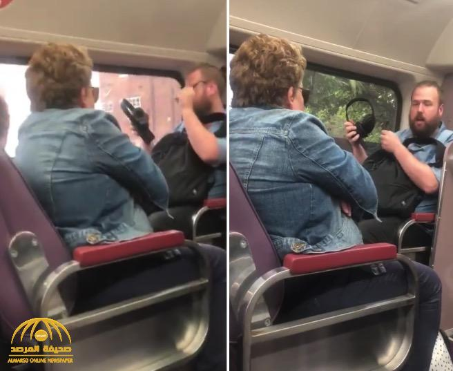 مشاجرة بين رجل ملتحي  و مسنة أسترالية داخل قطار بسبب كورونا .. شاهد كيف تعمدت  المرأة استفزازه !