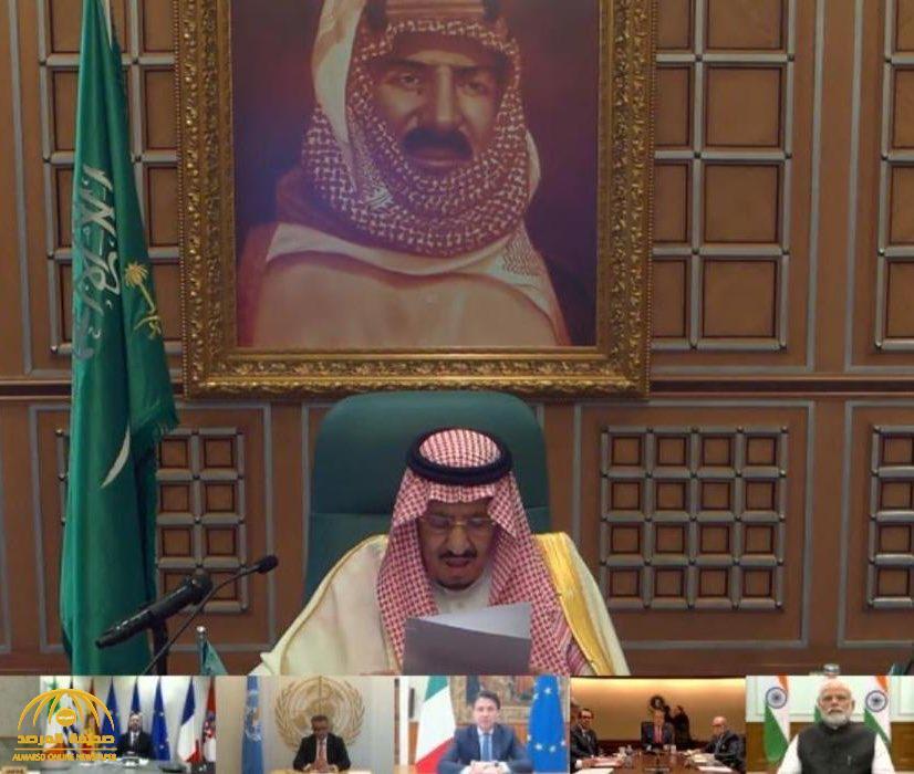 """تعرف على تاريخ صورة الملك عبدالعزيز التي ظهرت خلف """"خادم الحرمين""""  في قمة ال20"""