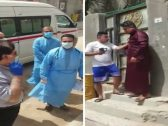 شاهد.. عراقي يشهر السلاح على الأطباء ويهدد بقتلهم لمنع ضبط امرأة مصابة بكورونا