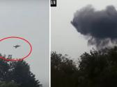 """شاهد .. لحظة سقوط طائرة """"إف 16 """" باكستانية في إسلام آباد .. والكشف عن مصير الطيار !"""