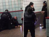 """""""مشهد مروع"""".. شاهد : ردة فعل ضابطين أمريكيين تجاه شخص حاول التنقل بين عربات القطار في شيكاغو !"""