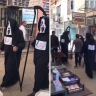 "شاهد … إيران تستعين ب"" عزرائيل ""  في شوراعها بعد تفشي كورونا بشكل مخيف!"