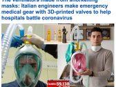 شاهد : مهندسون إيطاليون يصنعون أقنعة بصمامات ثلاثية الأبعاد لتقديمها للأطباء لمكافحة كورونا!