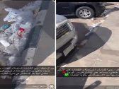 شاهد .. فيديو صادم لكمامات وقفازات مستعملة ملقاة على الأرض أمام مركز تسوق بالمملكة
