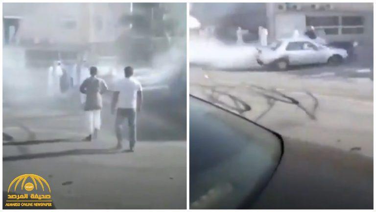 شاهد .. ضابط كويتي يستعرض بسيارته تعبيرا عن فرحته بزفاف صديقه وفجأة تقع الكارثة !