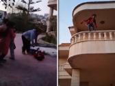 شاهد.. خادمة تحاول الانتحار من أعلى حافة بلكونة منزل في لبنان !