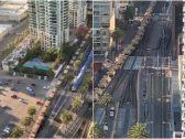 """شاهد : منظر مهيب لوصول عدد ضخم من دبابات الجيش الأمريكي لفرض حظر التجوال في ولاية كاليفورنيا بسبب """"كورونا""""!"""