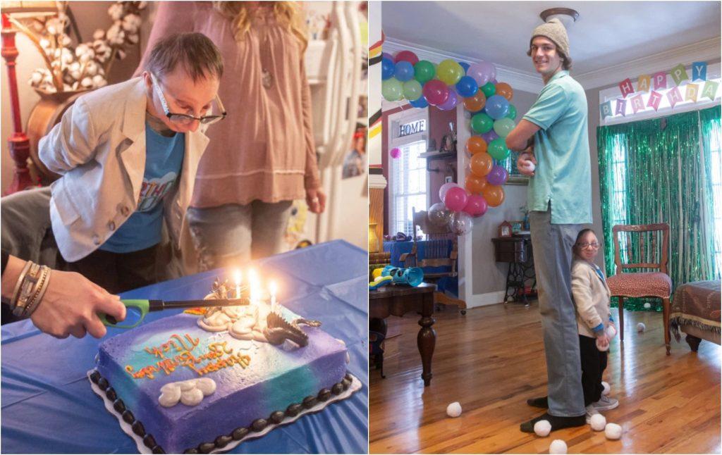 شاهد : أحد أقصر رجال العالم يحتفل بعيد ميلاده.. ووالدته تكشف أمراً محيراً للأطباء!