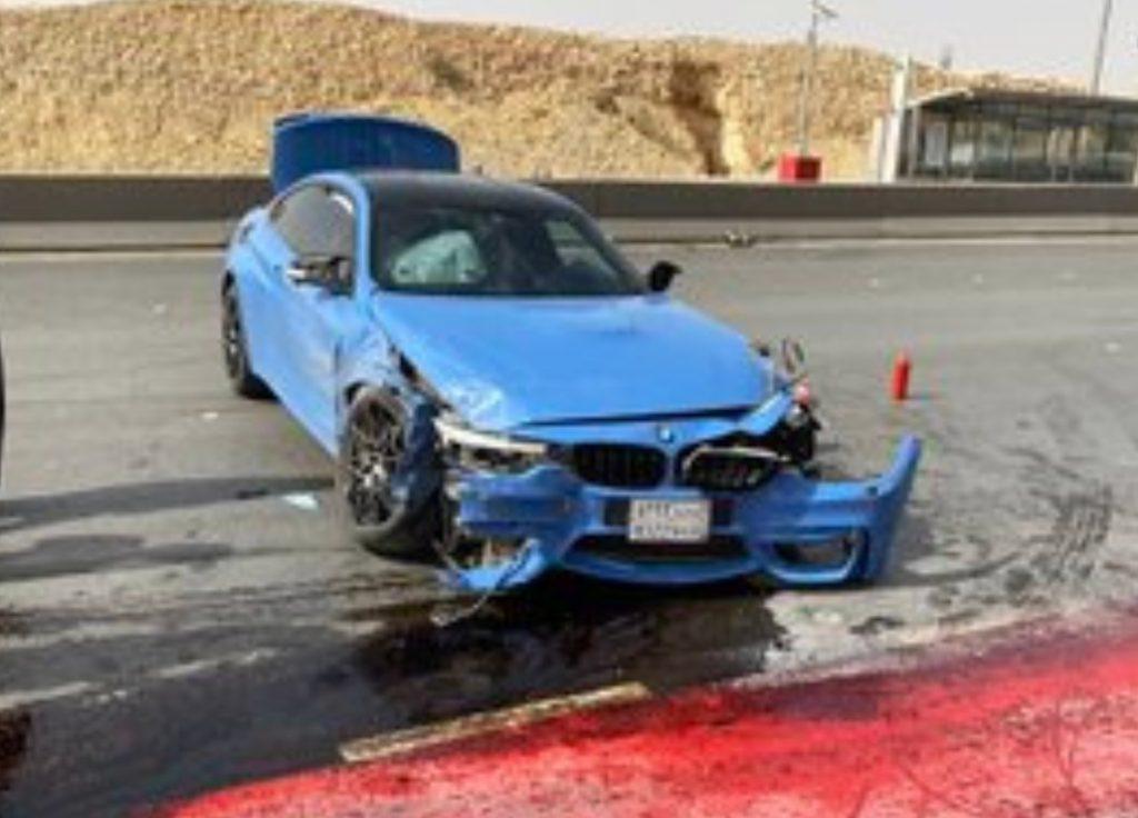 شاهد … لاعب نادي الهلال يتعرض  لحادث مروري والكشف عن حالته !
