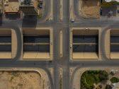 """شاهد : صور جوية فريدة لطرق وميادين مدينة """"الرياض"""" مع بداية منع التجول"""