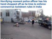 """""""ذراع متطاير وتحطيم حواجز"""".. شاهد: معركة دامية بين الشرطة الهندية ومحاربي """"السيخ"""" بسبب كورونا"""