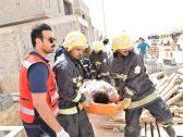 بالصور .. وفاة وإصابة 6 أشخاص إثر انهيار جدار فيلا تحت الإنشاء في الرياض