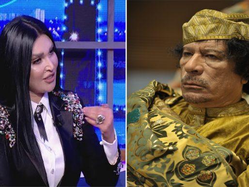 """بالفيديو .. فنانة تونسية تكشف عن علاقتها بالقذافي : """" يصوم اثنين وخميس ولا يشرب الخمور""""!"""