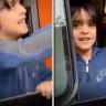 شاهد: ردة فعل طفل أثناء توديع أهله المحتجزين في الحجر الصحي بعد شفائه من كورونا !
