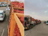 شاهد: لحظة ضبط 6 شاحنات محملة بالبصل قبل بيعها بأسعار مرتفعة.. والتجارة تكشف طريقة التصرف فيها
