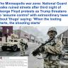 """""""ترامب نفذ تهديده"""".. شاهد: عناصر الحرس الوطني الأمريكي تخمد احتجاجات """"مينيابوليس"""" بالقوة ودمار واسع بالمدينة"""
