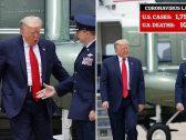 شاهد.. ترامب يضع ضابط شرطة في موقف محرج ويرفض مصافحته خوفا من كورونا
