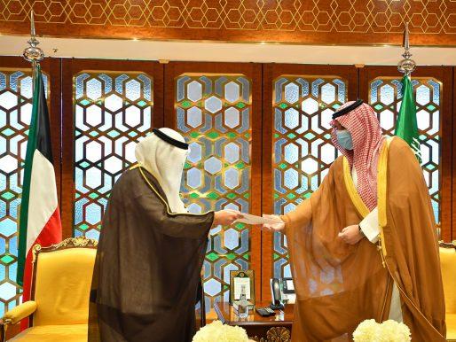 بالصور: رسالتان لخادم الحرمين وولي العهد من أمير الكويت