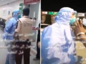 """شاهد : مشاجرة بين حارس أمن وسائق إسعاف داخل مستشفى بجدة : """"والله أكسر وجهك"""""""