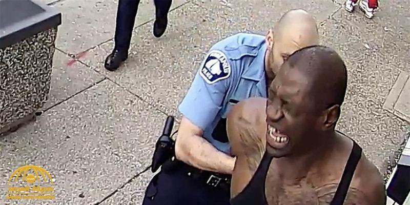 """فيديو مصور جديد يظهر الأحداث التي أدت إلى اعتقال الأمريكي """"جورج فلويد"""" قبل مقتله"""
