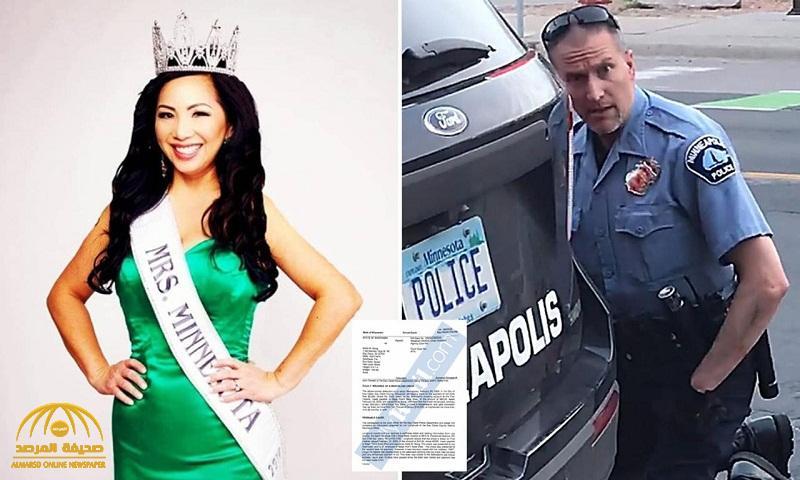 """ملكة جمال مينيسوتا لعام 2018 .. زوجة الشرطي المتهم بقتل """"جورج فلويد"""" تفاجئه بهذا القرار ! – صور"""