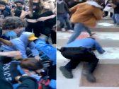 بعد مقتل جورج فلويد .. شاهد : محتجون يسحلون أفراد الشرطة في شيكاغو