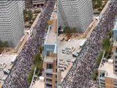 """شاهد: مظاهرات ضخمة في مدينة """"شيكاغو""""  الامريكية احتجاجا على قتل جورج فلويد"""