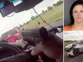 """شاهد : مطاردة صعبة بين الشرطة الأمريكية وفتاة مسلحة سرقت سيارة """"دودج"""""""