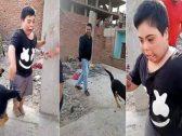 شاهد : ترويع طفل معاق ذهنيا بكلب يثير غضبا في مصر