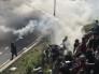 شاهد.. حرب بالقنابل المسيلة للدموع والرصاص المطاطي بين الشرطة الأمريكية والمتظاهرين في فلاديفيا
