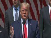 """بالفيديو .. ترامب : جورج فلويد ينظر إلينا من السماء .. ويقول: أمر عظيم يحصل في بلادنا""""!"""