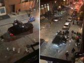 شاهد .. عمليات سلب ونهب وفوضى عارمة في مانهاتن بأمريكا