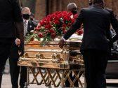 في نعش ذهبي.. شاهد بالصور: وداع مهيب لجورج فلويد الذي أشعل موته الولايات المتحدة