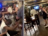 """""""أحدهما كسر زجاجة فوق رأس الآخر"""".. شاهد مطعم في أمريكا يتحول لـ """"حلبة مصارعة"""" بسبب امرأتين بيضاء وسوداء"""