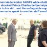 بالفيديو: موظف يُغمى عليه فجأة ويسقط على الأرض أمام الأمير تشارلز .. شاهد ردة فعل الأخير !
