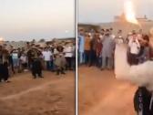 شاهد: مرتزقة سوريون  يرقصون في حفل زواج بمدينة  مصراتة الليبية