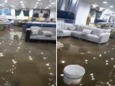 شاهد .. غرق المحلات في الطائف بمياه الأمطار