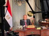 """الكشف عن هوية التمثال الفرعوني الذي ظهر بجوار وزير خارجية مصر خلال حديثه عن """"سد النهضة"""""""
