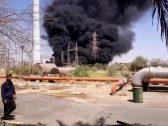 شاهد: لحظة اندلاع النيران في محطة للطاقة بالأحواز الإيرانية