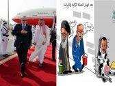 """""""أردوغان يحلب تميم"""" يتصدر التريند.. ونشطاء يسخرون من نهب الخزينة القطرية برسوم كاريكاتيرية"""