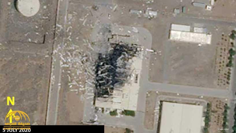 """شاهد : صور جوية جديدة تظهر تفاصيل الدمار الكبير في منشأة """"نطنز"""" الإيرانية .. واختفاء أجزاء من المبنى بالكامل"""