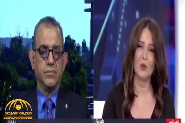 ضيف يضع مذيعة العربية ميسون عزام في موقف محرج على الهواء.. شاهد: ردة فعلها!